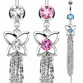 Piercing nombril papillon chaines
