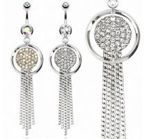 Piercing nombril multi chaines