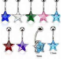 Piercing nombril pierre étoile