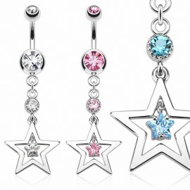 Piercing nombril pendentif étoile