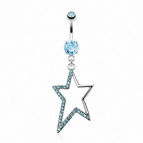 Piercing nombril étoile asymétrique