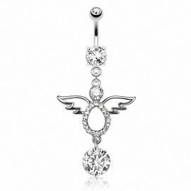 Piercing nombril ange gemme