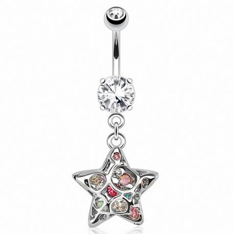 Piercing nombril étoile 3D