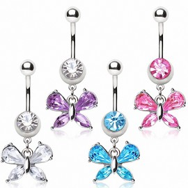 Piercing nombril petit papillon