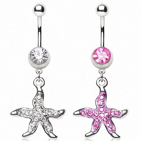 Piercing nombril étoile de mer