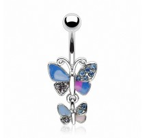 Piercing nombril double papillon