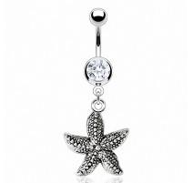 Piercing nombril vintage étoile de mer