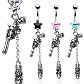 Piercing nombril pistolet