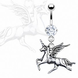 Piercing nombril licorne
