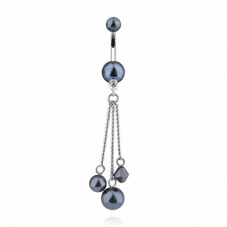 Piercing nombril chaines perles