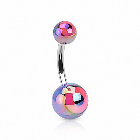 Piercing nombril acrylique oeil