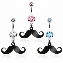Piercing nombril moustache