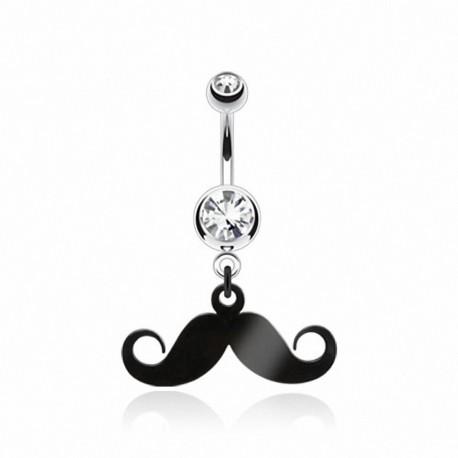 Piercing nombril moustache
