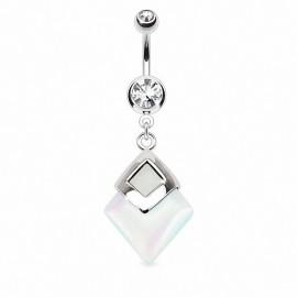 Piercing nombril pierre Opale