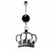 Piercing nombril couronne coeurs