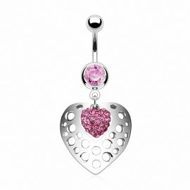 Piercing nombril bouclier coeur