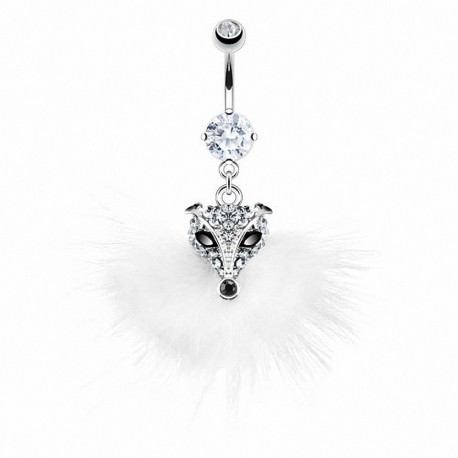 Piercing nombril renard plumes