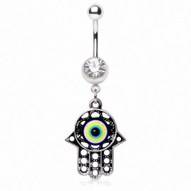 Piercing nombril main de fatma amulette