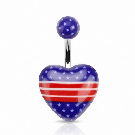 Piercing nombril coeur USA