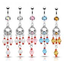 Piercing nombril perles vintage