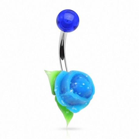 Piercing nombril rose silicone
