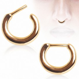 Piercing septum plaqué or