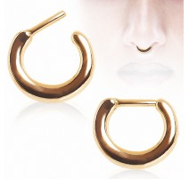 Piercing septum plaqué or