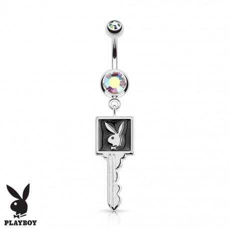 Piercing nombril Playboy clef