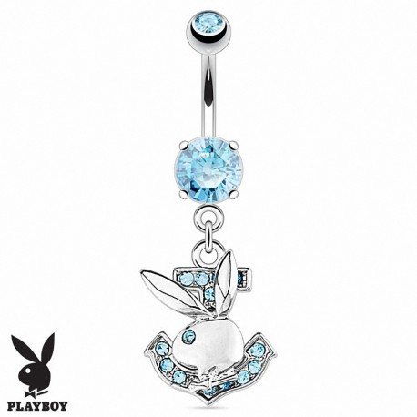 Piercing nombril Playboy ancre marine
