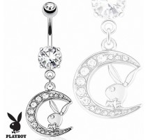 Piercing nombril Playboy lune