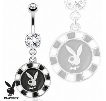 Piercing nombril Playboy jeton poker