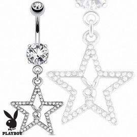 Piercing nombril Playboy étoile