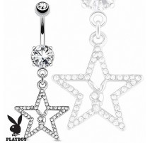 Piercing nombril Playboy étoile