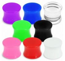 Piercing Plug Oreille Acrylique UV Solide