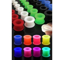 Piercing Tunnel Plug Oreille en Silicone Flexible