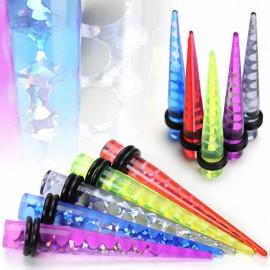Piercing Ecarteur Acrylique UV Tourbillon Holographique