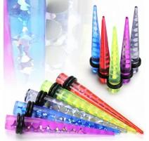 Piercing Ecarteur Oreille Acrylique UV Tourbillon Holographique