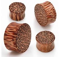 Piercing Plug Oreille Organique Bois de Coco