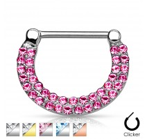 Piercing téton multi crystal