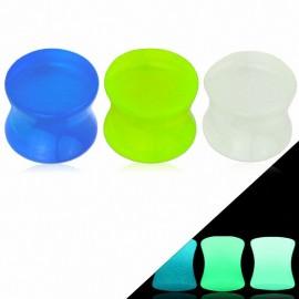 Piercing Plug Acrylique Glow in The Dark