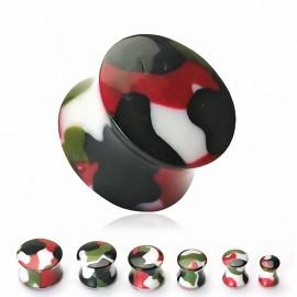 Piercing Plug Camouflage Acrylique