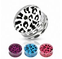 Piercing Plug Acrylique Motifs Léopard
