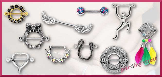 sélection de piercings pour téton