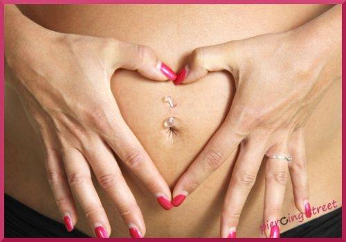 piercing nombril femme enceinte